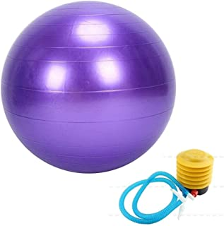 Yoga ball Anti Burst Exercise Ball 75cm -Yoga Ball Gym Exercise Anti-Burst & Extra Thick Fitness Weight Loss Swiss Ball wi...