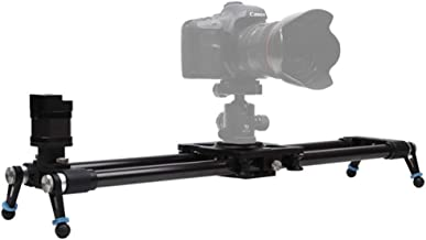 Camera Motorized Slider Carbon Fiber Track Slider Rail System with Time Lapse and Video Shot Follow Focus Shot, with Pan & Tilt Motors and Controller