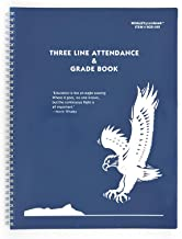 Whaley Gradebook (9 x 12 inches) 3-Line Grade Record Book, 20 Student Lines, Four 10-Week Sessions (9GB-049)