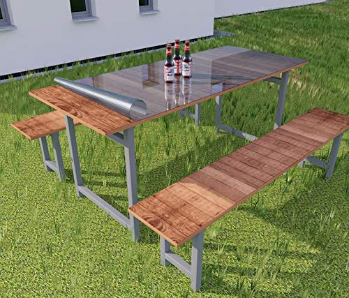 Tischunterlage Breite 60cm Transparent 2mm Tischfolie PVC Tischschutz Folie Weich Tischdecke Tischmatte Tischauflage Schutzfolie, Breite PVC:60cm, Länge PVC:60cm