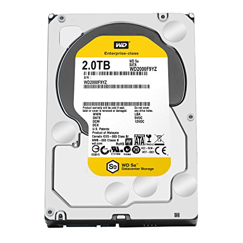 WD SE 2TB Datacenter Hard Disk Drive - 7200 RPM SATA 6 Gb/s 64MB Cache 3.5 Inch - WD2000F9YZ