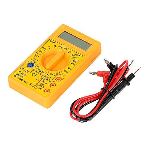 NOPNOG Digital Multimeter DT-830B Ohmmeter Volt Tester gelb