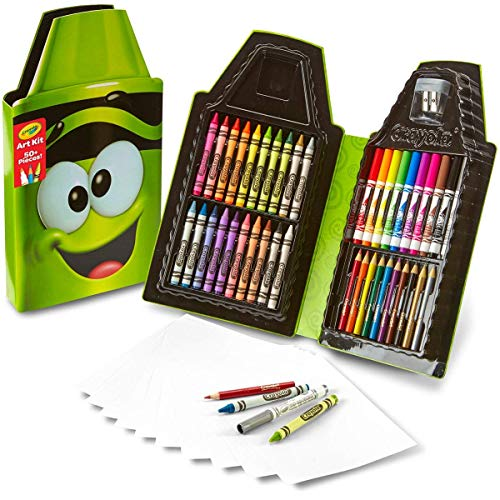 Crayola Tip Character Art Kit, Gift for Kids, Travel Case, 50 Pieces, Multi (04-6897), Same size