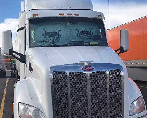TRUCK N SHADEZ All-In-One Front Windshield And Side Windows Sun Shade and Privacy Cover for Semi, Commercial, and Big Rig Trucks, Classes 3-8. Includes Velcro for Carpet or Adhesive for Hard Surfaces.