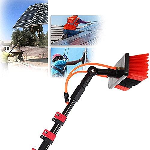 XJYDS Kit de Limpieza de Ventana de Paneles solares, Kit de Lavado de Ventanas con Poste de extensión 3.6-11m, Usado para Limpiar Paneles solares, Edificios de Gran Altura y vehículos Grandes, 24ft /
