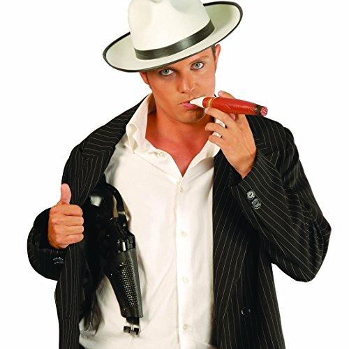 Revólver y pistolera Pistola de Juguete con Funda 40 cm complemento Disfraz gánster Accesorios Ropa del Oeste Arma de Mentira para Carnaval Accesorio Traje de Bandido