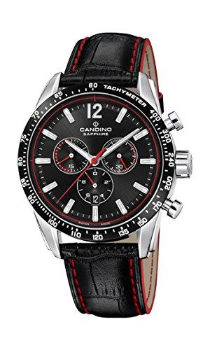 Candino Herren Chronograph Quarz Uhr mit Leder Armband C4681/4