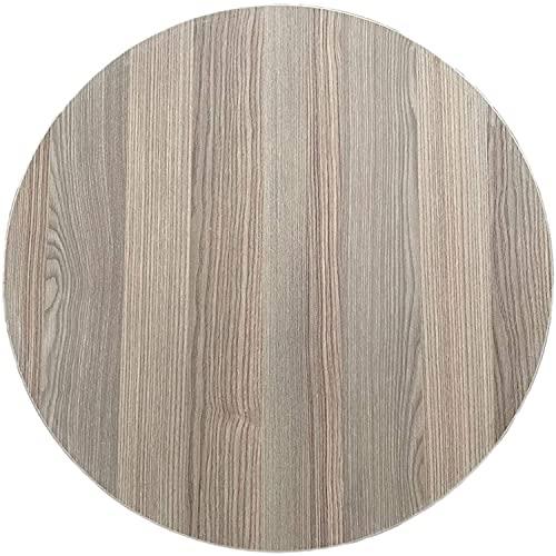 Runder Esstisch Orientalischer Klapptisch Sofra Holzbodentisch Tischplatte mit Metallbeine für traditionelle Gerichte, Durchmesser Ø 70cm, Eiche, Rund