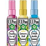 Air Wick VIPoo Spray para el WC Frutas del Bosque + Limón + Lavanda - 3 Unidades x 55 ml