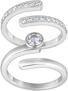 ed031ab90 Swarovski Clear Crystal Set of 2 Rings Radiance Ring Silver Tone #1023652  (Small/