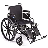 Invacare - TRSX50FBP / T94HAP Tracer SX5 Wheelchair, With Desk Length Arms and T94HAP Hemi Elevating Legrests, 20' Seat Width, 1193443