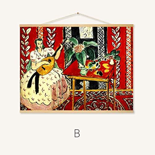 Veranda muur Schilderij Restaurant Niche Art Gallery Sushi Restaurant en Stijl 40 * 60cm 257-b