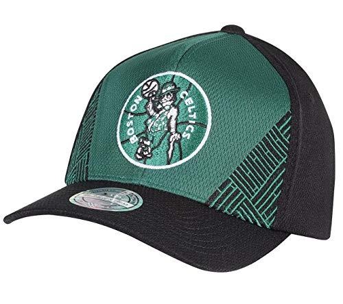 Mitchell & Ness NBA DNA - Gorra de béisbol ajustable Boston Celtics - Botas de esquí, color verde y negro Talla única