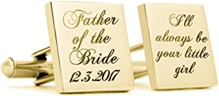 Personalized Cufflinks for Men,Mens Jewelry Custom Made with Any Wedding Day