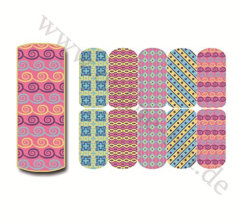 Nail-Wraps Muster Nr. 30