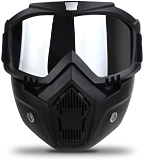 Motorcycle Goggles Mask Detachable,Ski Motocross Goggles Helmet Sunglasses
