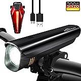 Toptrek Fahrradlicht StVZO Zugelassen LED Fahrradbeleuchtung Fahrradlichter Set USB Wiederaufladbare