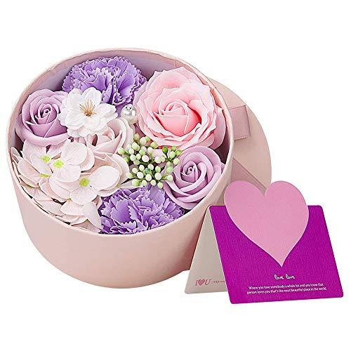 XYDZ Flor de Jabón en Caja de Regalo, Flor de Rosa Artificial, Jabones Perfumados de Rosas,para el día de la Madre, el día de San Valentín, el día del Maestro, la Boda, la Decoración del Hogar