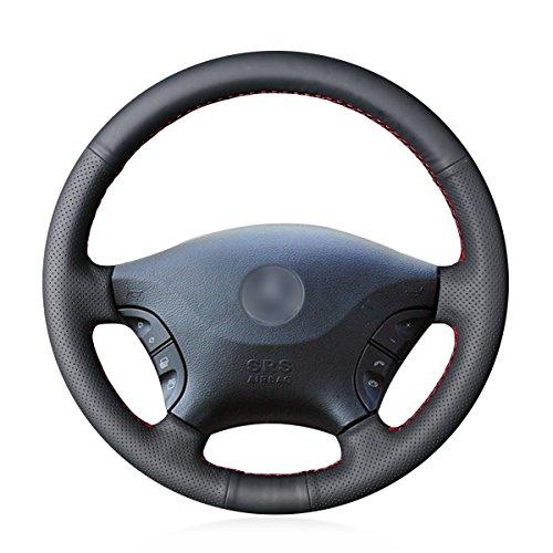 MEWANT Funda para volante de coche de piel artificial hecha a mano,...