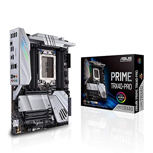 Asus Prime TRX40-PRO AMD 3rd Gen Ryzen Threadripper Strx4 ATX Motherboard with DDR4, M.2, USB 3.2 Gen2, Type-C Front Panel Connector