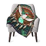 Native American Hummingbird Baby Blanket for Girls Boys Soft Warm Receiving Throw Blankets