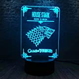 Cabeza de lobo Animal Luz de noche 3D 7 Botón táctil cambiante de color Lámpara de mesa LED Lámpara de Navidad USB Lámpara de regalo para niños Dormitorio Mesita de noche Decoración