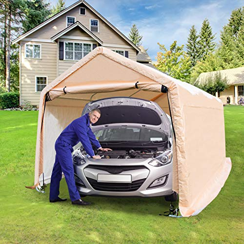 Carport 17X10 Heavy Duty,Car Tent Portable Garage Garden Storage Shed 8 Legs with Weather-Resistant...