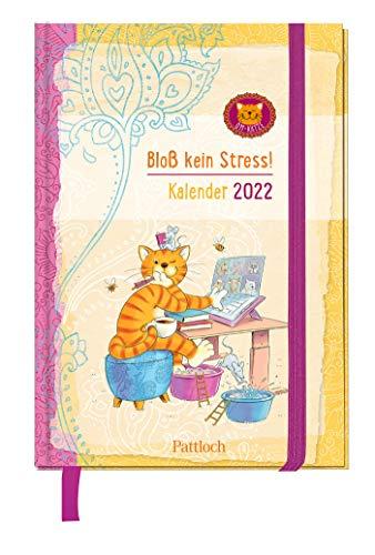 Om-Katze: Bloß kein Stress! Taschenkalender 2022: Terminkalender, Wochenplaner mit Ferienterminen und Monatsübersichten