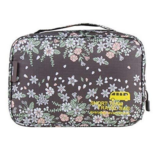 Portátil Caso de belleza cosmética del bolso del bolso de las mujeres de maquillaje Maquillaje Organizador Neceser Kits de almacenaje del recorrido Lavar la bolsa Para el almacenamiento (Color : D)