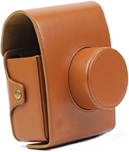 JXE Retro Vintage Brown Leather Camera Case Bag For LOMO Automat Insta...