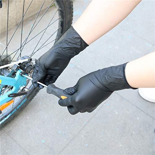 100st latex nitril duurzame dikke handschoenen, shampoo kapperszaak zwarte handschoenen voor tattoo shop,L
