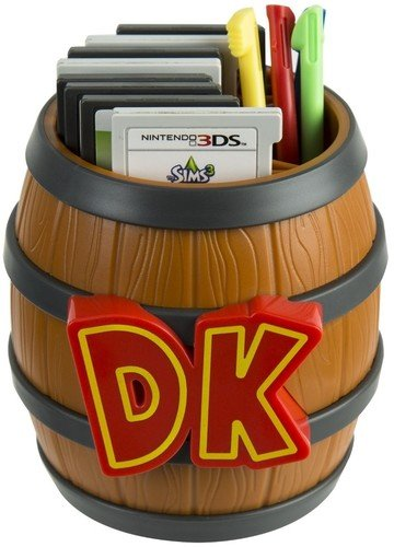 PDP Donkey Kong Barrel Game Card Storage - Nintendo 2DS