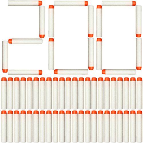 AMOSTING 200Pcs Refill Darts for Nerf N Strike Elite Glow at The Dark Bullets Pack - White