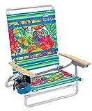 Rio Beach Classic 5 Position Lay Flat Folding Beach Chair - Toucan Florals