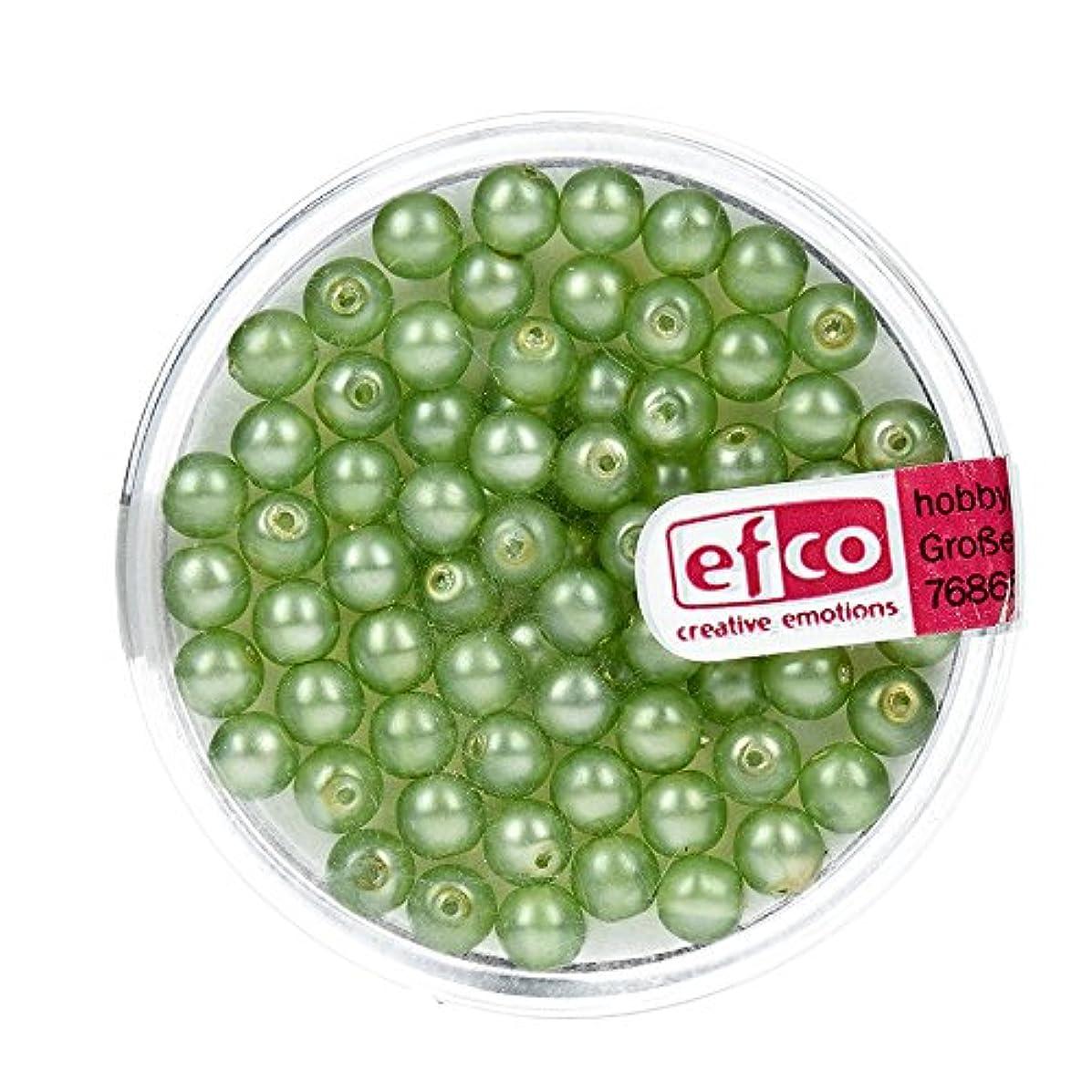 Efco Glass Wax Beads Luster matted 4 mm 75 pcs. Light Green