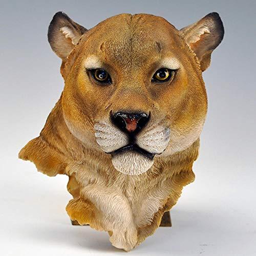 BGHYU Cabeza de Animal Colgante de Pared decoración de Pared Colgante Escultura Animal artesanía decoración del hogar-B_20 * 23 * 10 CM