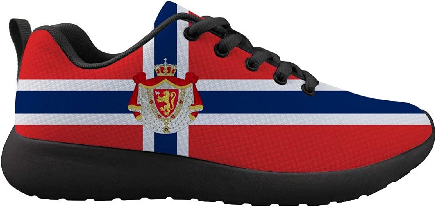 Owaheson Cushioning Sneaker Trail Running shoes Mens Womens Norwegian Flag National Emblem