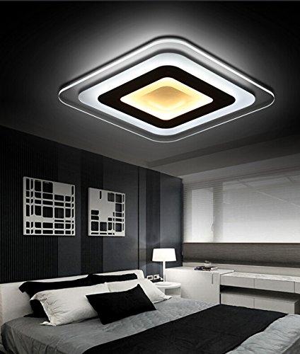 Moderne minimaliste LED plafonnier ultra fine Acrylique Chambre Salle à  Manger Salon Lampe Lumière créatifs Ader une étude lampe\