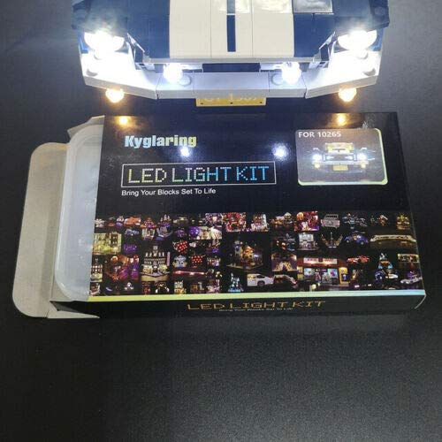 brick-light-more-store LED KIT Beleuchtung für Lego 10265 Ford Mustang