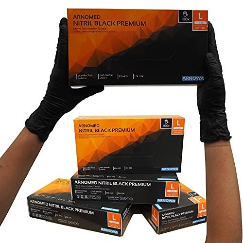 Guantes desechables ARNOMED negros, guantes desechables L, 100...