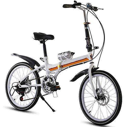 ZXYY Bicicleta Plegable Aluminio Bicicleta de 16 Pulgadas para Adultos Bicicleta eléctrica de 6 velocidades Marco de Acero de 21 velocidades Bicicleta Plegable de Doble suspensión