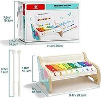 TOP BRIGHT Xilofono in Legno per Bambini – Strumento Musicale Giocattolo per Bambini di 1 Anno con 3 Spartiti – Tasti Colorati, Gioco educativo #5