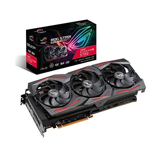 ASUS ROG-STRIX-RX5700-O8G-GAMING, Scheda Video Gaming RX5700 OC Edition, HDMI, DP*3, 8GB, DDR6, Aura SYNC