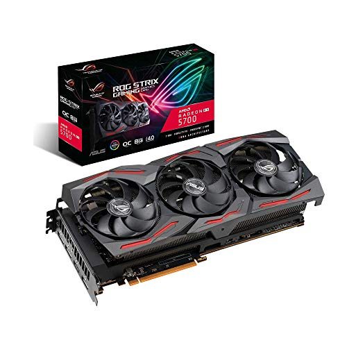Asus ROG Strix Radeon RX 5700 OC Edition 8 GB GDDR6, Ventole AxialTech, 0 dB, dual BIOS, Tecnologia Auto-Extreme, Super Alloy Power II, MaxContact, Backplate in Metallo