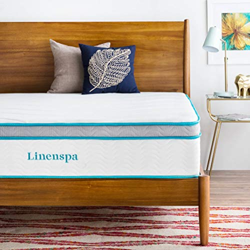Linenspa 12 Inch Gel Memory Foam Hybrid Mattress - Ultra Plush - Individually Encased Coils - Sleeps Cooler Than...