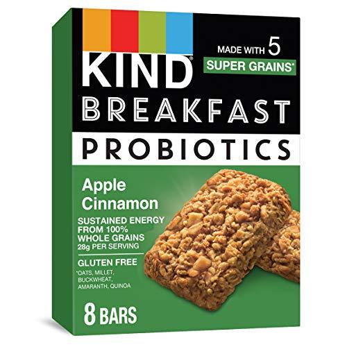KIND Breakfast Probiotic Bars, Apple Cinnamon, 1.76 Ounce (Pack of 32)