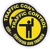 Traffic Control Hard Hat Sticker / Helmet Decal Label Lunch Tool Box Flagger Safety