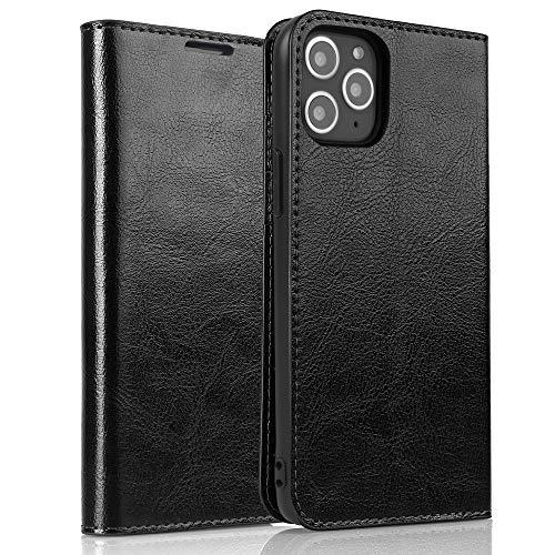 iPhone 11 Pro ケース 手帳型 カバー アイフォン11プロ レザーケース カード収納 スタンド機能 耐衝撃 スマホケース ブラック