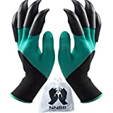 NNBB Garden Gloves with Fingertips Claws Quick– Great for Digging Weeding Seeding poking -Safe for Rose Pruning –Best Gardening Tool -Best Gift for Gardeners (Double Claw)