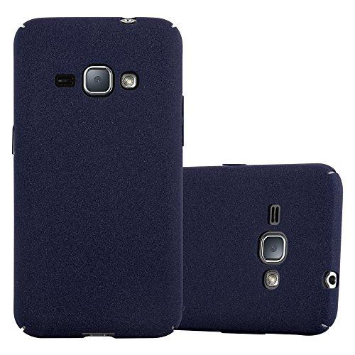 Cadorabo Hülle für Samsung Galaxy J1 2016 in Frosty BLAU - Hardcase Handyhülle aus Plastik gegen Kratzer & Stöße - Schutzhülle Bumper Ultra Slim Back Hülle Hard Cover
